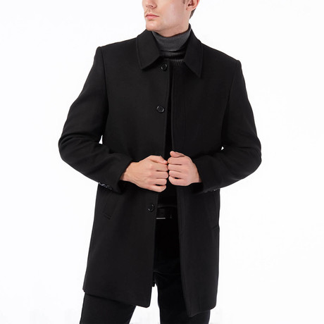 Madrid Overcoat // Black (Small)