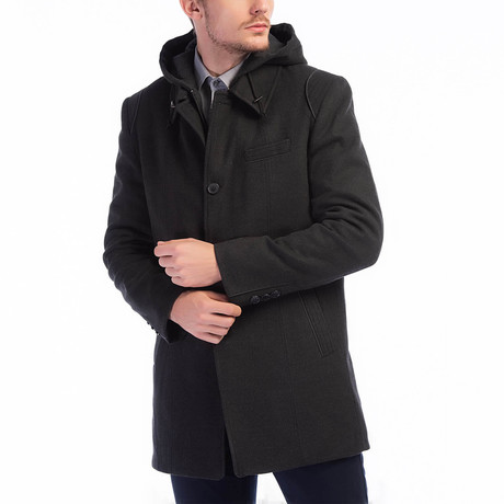 Hamptons Overcoat // Black (Small)