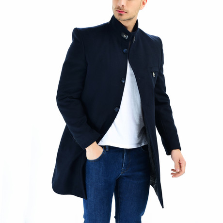 Seville Overcoat // Dark Blue (Small)