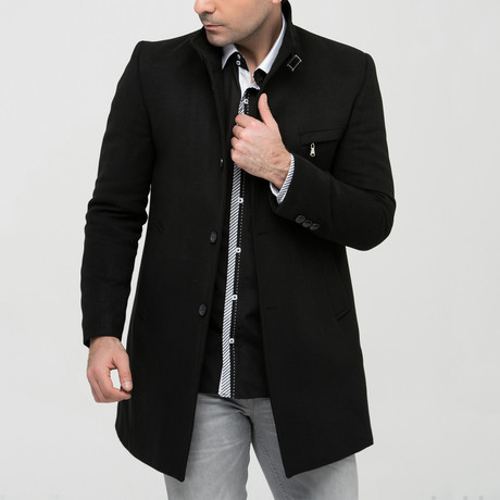 Seville Overcoat // Black (Small)