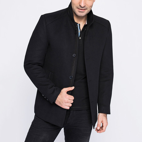 Athens Overcoat // Dark Blue (Small)