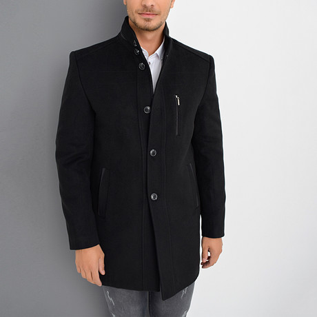 Brazil Overcoat // Black (Small)