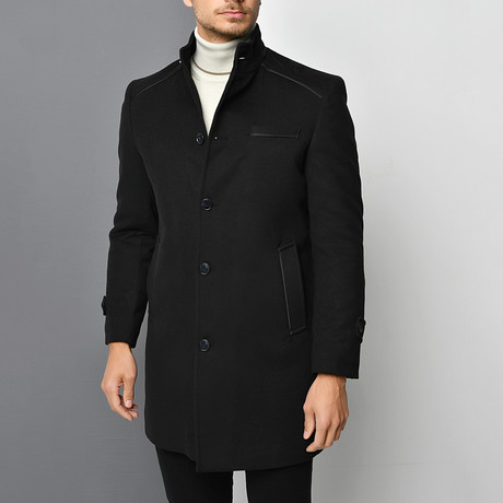Max Overcoat // Black (Small)
