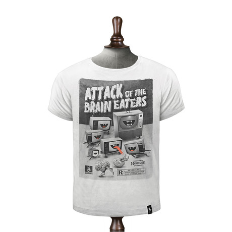 Brain Eaters T-shirt // Vintage White (XS)
