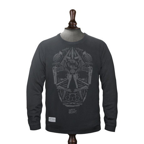 Death Mask Pullover // Rebel Black (XS)