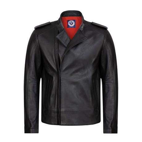Harsh Leather Jacket // Navy (XS)