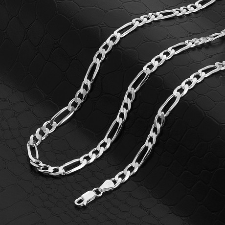 """Figaro Chain Necklace // 6mm (18"""" // 20.1g)"""