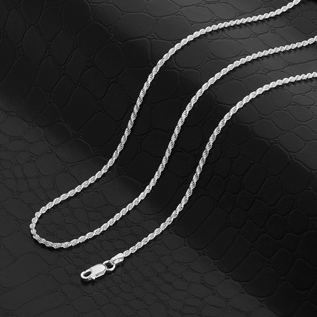 """Diamond Cut Rope Chain Necklace // 1.87mm (18"""" // 5.44g)"""