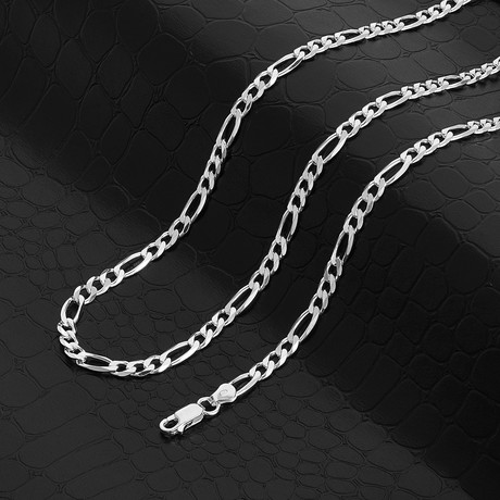 """Figaro Chain Necklace // 4.5mm (18"""" // 13.1g)"""