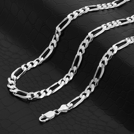 """Figaro Chain Necklace // 8mm (20"""" // 42.33g)"""