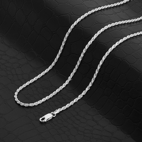 """Diamond Cut Rope Chain Necklace // 2.3mm (18"""" // 8.31g)"""