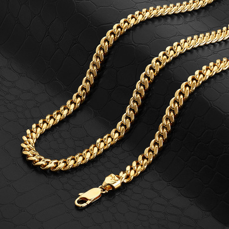 """Classic Cuban Link Chain Necklace // 10mm // 14k Gold Plated (20"""" // 90g)"""