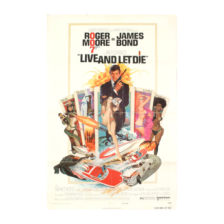 James Bond-Live and Let Die // 1973 Lithograph