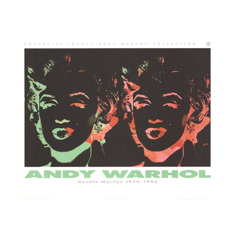 Double Marilyn (Reversal Series) // Andy Warhol // 1989 Offset Lithograph