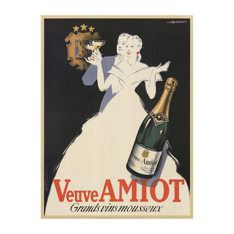 Veuve Amiot // Robert Falcucci // Grands vins mousseux // 2002 Offset Lithograph