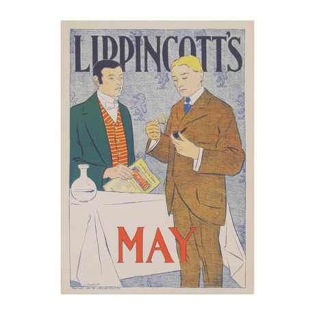 Lippincott's May 1896 // J.J. Gould // 1896 Lithograph