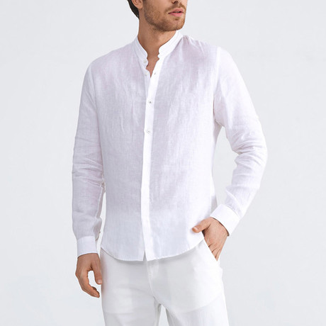 Positano Linen Button-Up // White (XS)