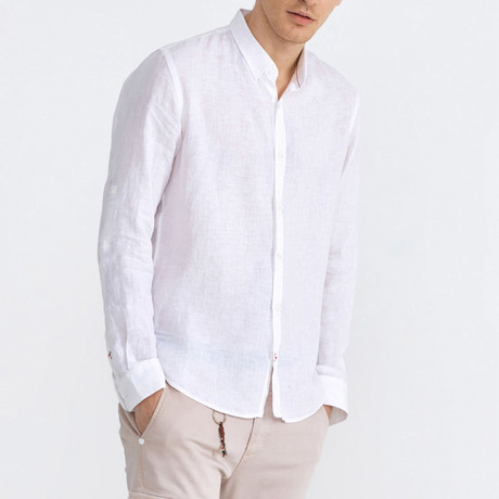 Florence Linen Button-Up // White (XS)