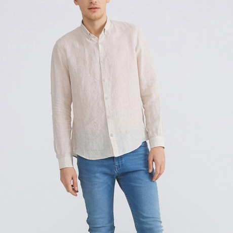 Florence Linen Button-Up // Natural (XS)