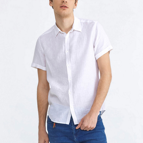 Canne Linen Short Sleeve // White (XS)