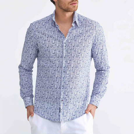 Barcelona Button-Up // Navy (XS)