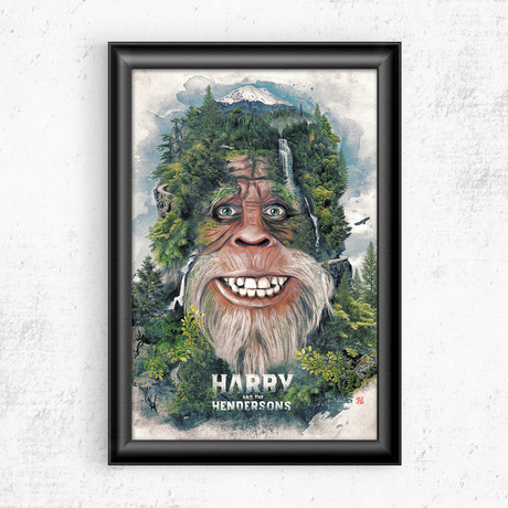 """Harry and the Hendersons (11""""W x 17""""H)"""