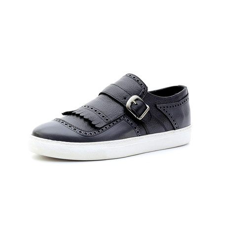 Karl Low Top Sneakers + Buckle // Navy Blue (Euro: 40)