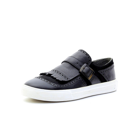 Fabinho Low Top Sneakers + Buckle // Navy Blue (Euro: 40)
