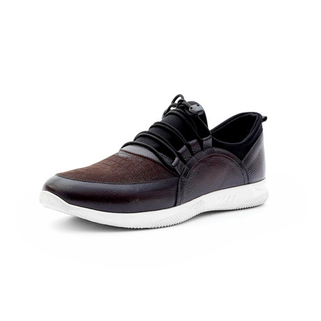 Jose Low Top Sneakers + Tie Free Laces // Brown (Euro: 40)