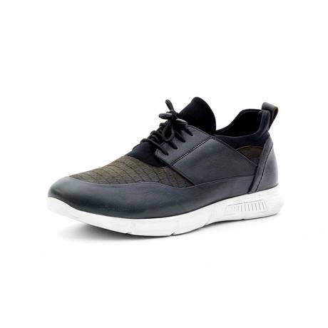 Allen Low Top Sneakers // Navy Blue + Dark Green (Euro: 40)