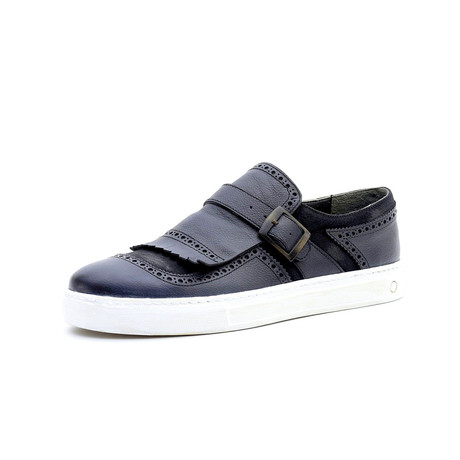 Christian Low Top Sneakers + Buckle // Blue (Euro: 40)
