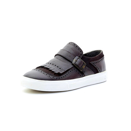 Laurence Low Top Sneakers + Buckle // Burgundy (Euro: 40)