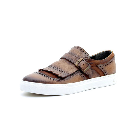 Marshall Low Top Sneakers + Buckle // Tan (Euro: 40)