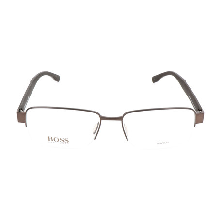 Men's 0696-TY7 Optical Frames // Brown Carbon