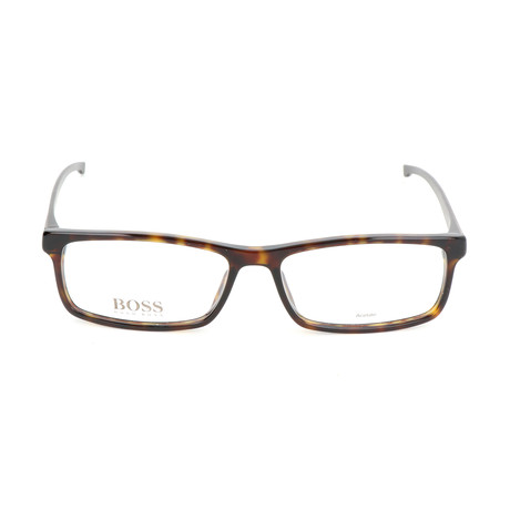 Men's 0877-P0I Optical Frames // Dark Havana + Crystal