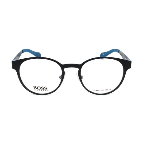 Unisex 0872 Optical Frames // Matte Black + Blue Ruthenium