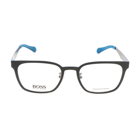 Men's 0897-0MB Optical Frames // Matte Black + Blue Ruthenium