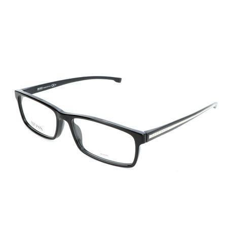 Men's 0877-YPP Optical Frames // Black + Crystal