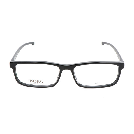 Men's 0877-YPP Optical Frames // Black + Crystal