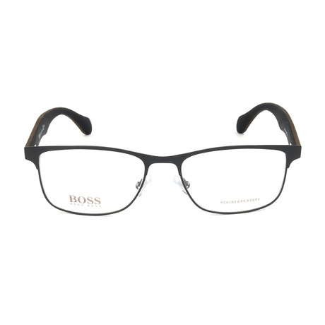 Men's 0780-RBR Optical Frames // Matte Black + Dark Brown