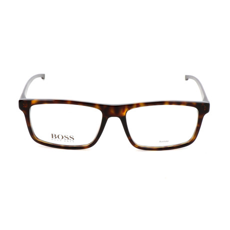 Men's 0876-P0I Optical Frames // Dark Havana + Crystal