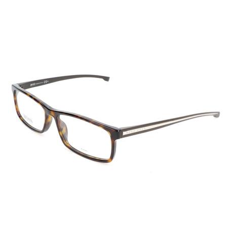 Men's 0877-P0I Optical Frames // Dark Havana + Crystal