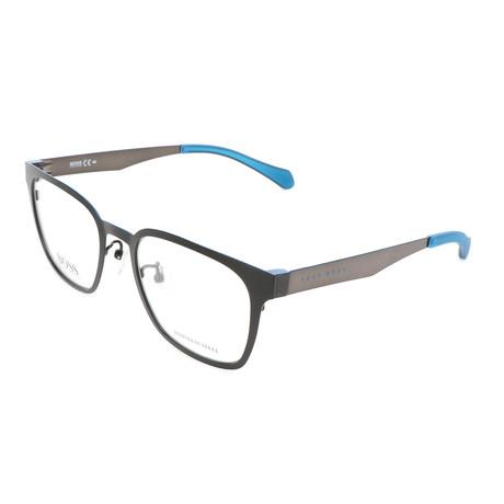 Men's 0897-0MB Optical Frames // Matte Black + Blue Ruthenium