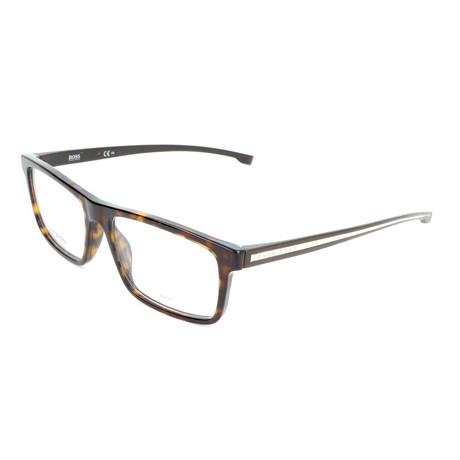 Men's 0876-086 Optical Frames // Dark Havana