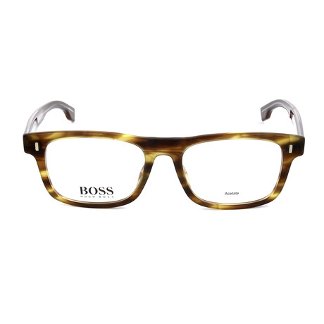 Men's 0928-BU0 Optical Frames // Matte Brown + Horn Walnut