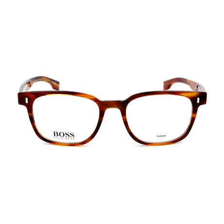 Men's 0958-EX4 Optical Frames // Brown Horn