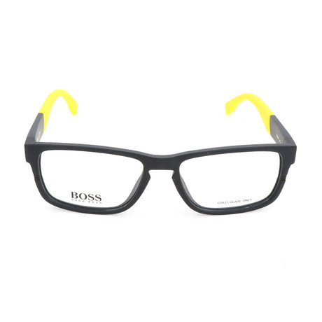Men's 0917-1XE Optical Frames // Matte Black + Yellow