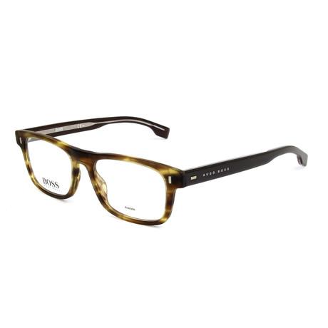 Men's 0928-BU0 Optical Frames // Matte Brown + Horn Walnut