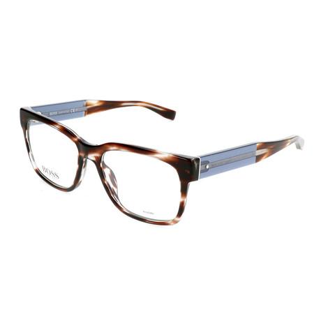 Men's 0737-K8E Optical Frames // Dark Havana + Blue Gray