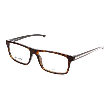 Men's 0876-P0I Optical Frames // Dark Havana + Crystal